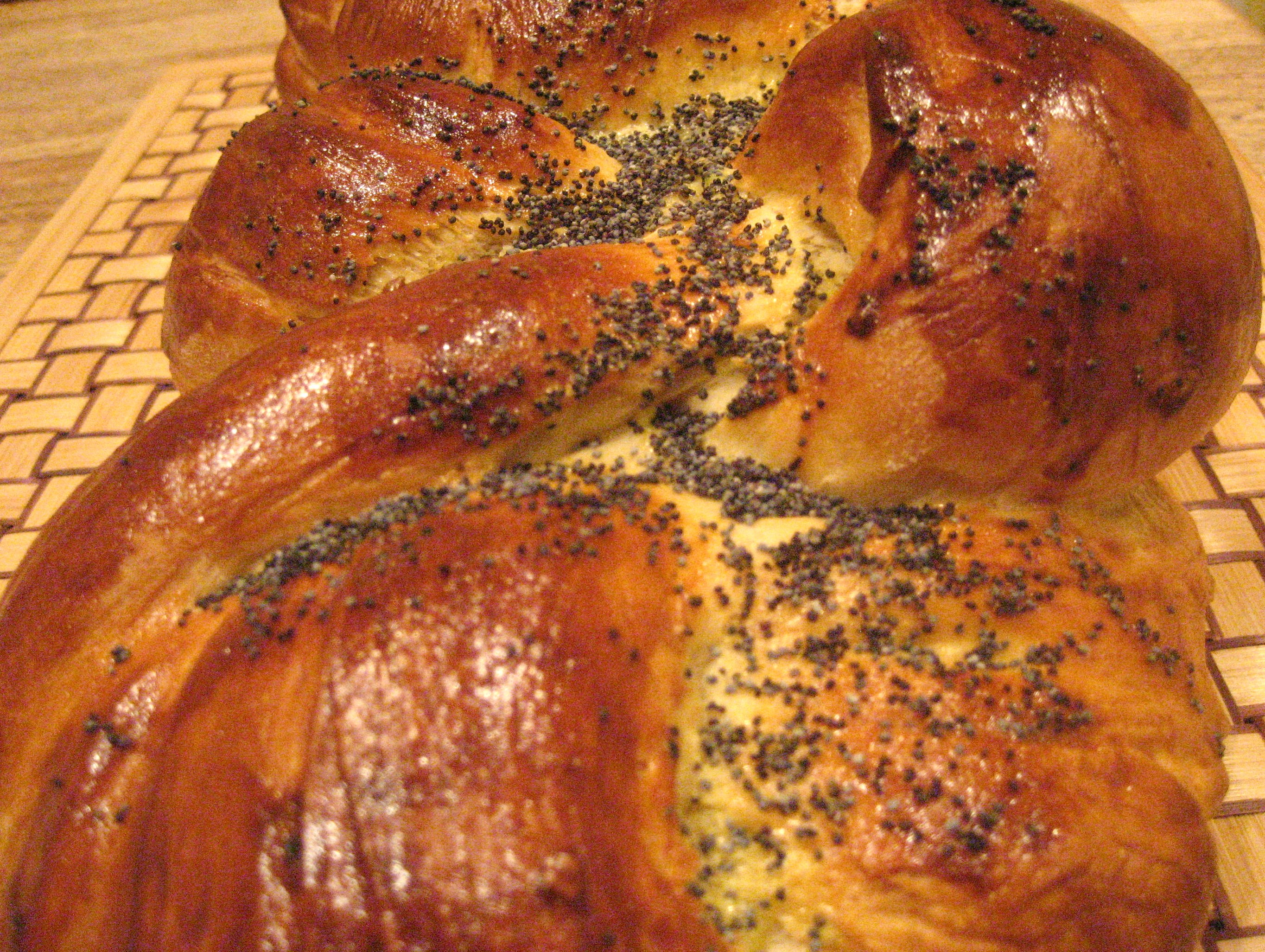When I think of homemade challah, the words warm, rich, gold..
