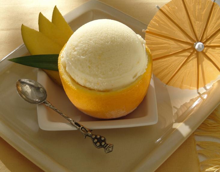 Домашнее апельсиновое мороженое