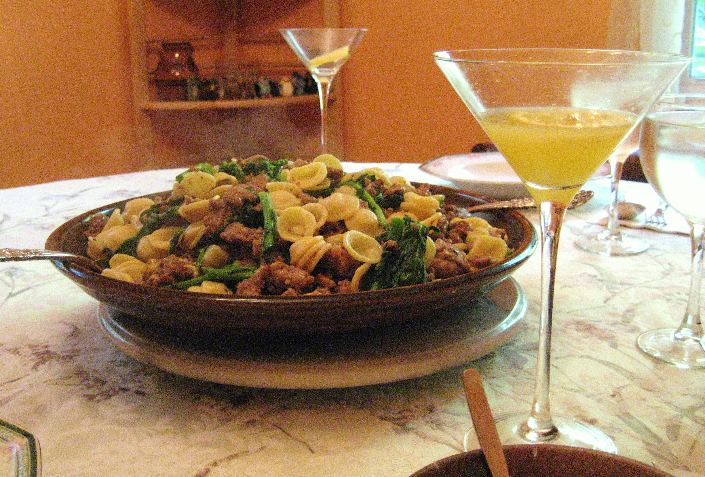 Orecchiette with Sausage and Broccoli Rabe | sweetpaprika